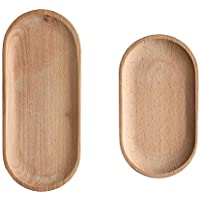 Mini Beech Serving Tray And Platter Oval Wood Tray Without Paint Small Wooden Plate Tableware Decorative Tray