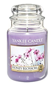 - Yankee Candle Honey Blossom Large Jar Candle, Floral Scent