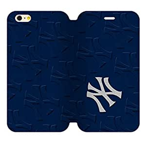 "Special Designed 5.5"" Screen iPhone 6 Plus Diary Leather Case with Baseball New York Yankees Team Design-by Allthingsbasketball"