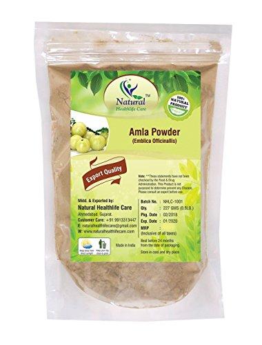 100% Natural Amla Powder By Natural Healthlife Care (Indian Gooseberry/Emblica Officinalis (227g/(1/2 lb)/8 ounces) (Amla Shikakai Powder)