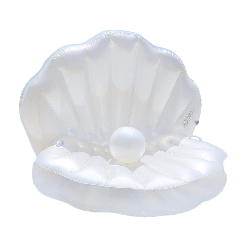 Swimming Pool Inflatable Float Colossal Sea Shell Pool Float Floating Bed Row Cushion for Beach Swimming Pool Seaside Shell Shape Water Sofa Floating Air Bed Water Floating Row Cushion for Beach Swimm