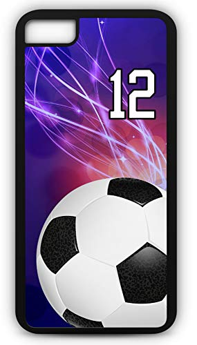 iPhone 6s Phone Case Soccer SC039Z by TYD Designs in Black Rubber Choose Your Own Or Player Jersey Number 12