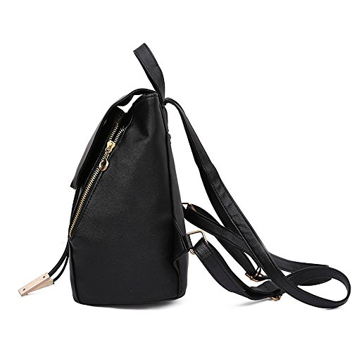 Clearance Bag Girls Preppy Clutch Style Students Leather 2 DEELIN College Handbag Elegant PCS Travel Bags School Sale Black Women Backpack PU Cute Fashion dwxFXCqFH