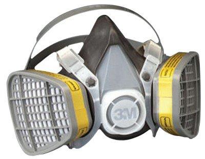 3M Safety 142-5303 Safety Half Facepiece Disposable Respirator Assembly, Organic Vapor/Acid Gas, Large