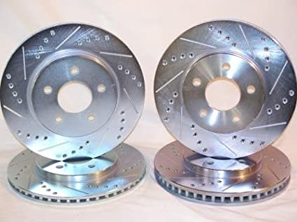 Front Brake Rotors Drilled Slotted For Ford Mustang 2006 2007 2008 2009 2010