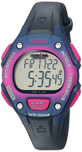 Timex Women's TWH2Z9210 Ironman Classic 30 Mid-Size Blue/Pink Gradient Resin Strap Watch