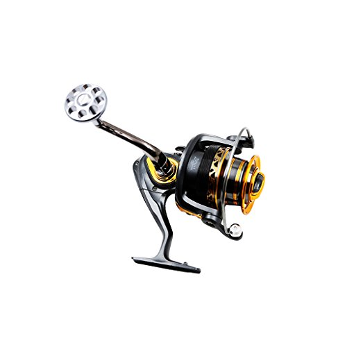 SANLIKE Aluminum alloy High Speed(4.7:1) Spinning Reel Fishing Tackle for Freshwater Saltwater Fishing Reels Left/Right Interchangeable Handle 5000 Serial