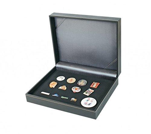 LINDNER Das Original Sammelkassette NERA VARIUS mit Schwarzer Schaumstoffeinlage für Pins, Orden, Abzeichen