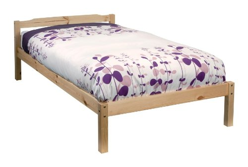 Single 3ft Wooden Bed Frame White Solid European Wood For