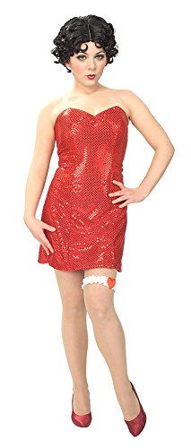 [Adult-Costume Adult Betty Boop Md Halloween Costume - Adult Medium] (Halloween Betty Boop Costume)