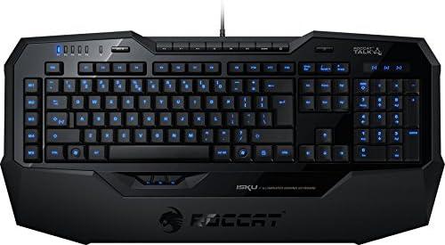 Roccat Isku - Teclado Gaming (USB 2.0, iluminación de Teclas en Azul, QWERTY español), Negro