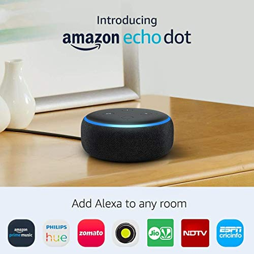 All-new Echo Dot (3rd Gen) – Smart speaker with Alexa (Black)