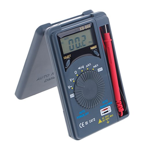 Qisuw Mini Auto Range LCD Digital Multimeter Voltmeter Tester Tool AC/DC Pocket XB866