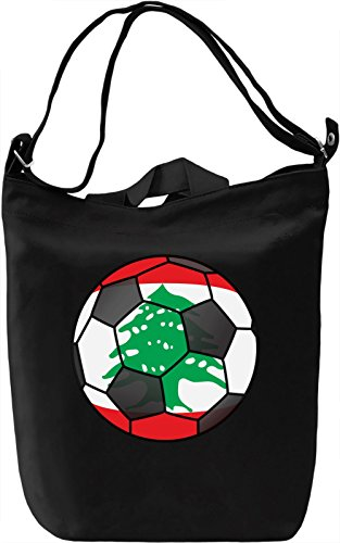 Lebanon Football Borsa Giornaliera Canvas Canvas Day Bag| 100% Premium Cotton Canvas| DTG Printing|