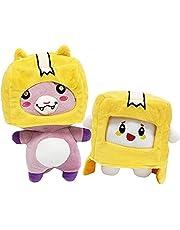 Lankybox Plysch Foxy och Boxy och Rocky, Avtagbar Foxy Plyschdocka Mjuk Fyllda Plyschleksaker för barn och fans
