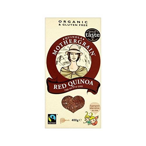 Quinola Organic & Fairtrade Red Quinoa 400g - Pack of 4 by Quinola