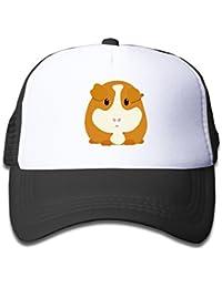 210f11abbf2 Kids Boys Girls Guinea Pig Cute Cartoon Trucker Hat Baseball Cap (3 Colors)  Black
