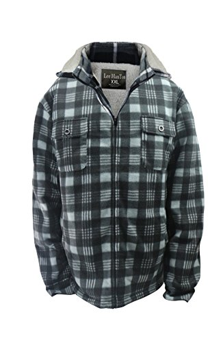 plaid jacket with hood - 4