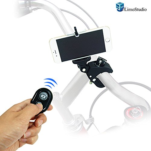 LimoStudio Photography Studio Action Camera Mount Tilt Mount Clamp with iPhone 6, 5S 5 Galaxy S5 S4 Cellphone Holder and Bluetooth Remote , AGG1658 by LimoStudio