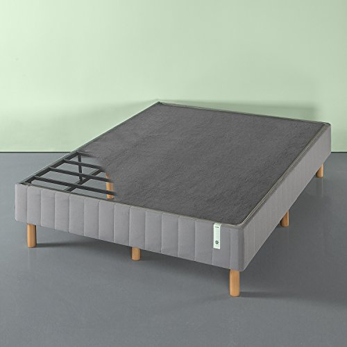 Zinus Justina Quick Snap Standing Mattress Foundation / Platform Bed / No Box Spring Needed / Grey, King