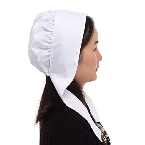 GRACEART Women's Mob Cap Bonnet Colonial Costume Accessory 100% Cotton (Style-4) by GRACEART (Image #1)