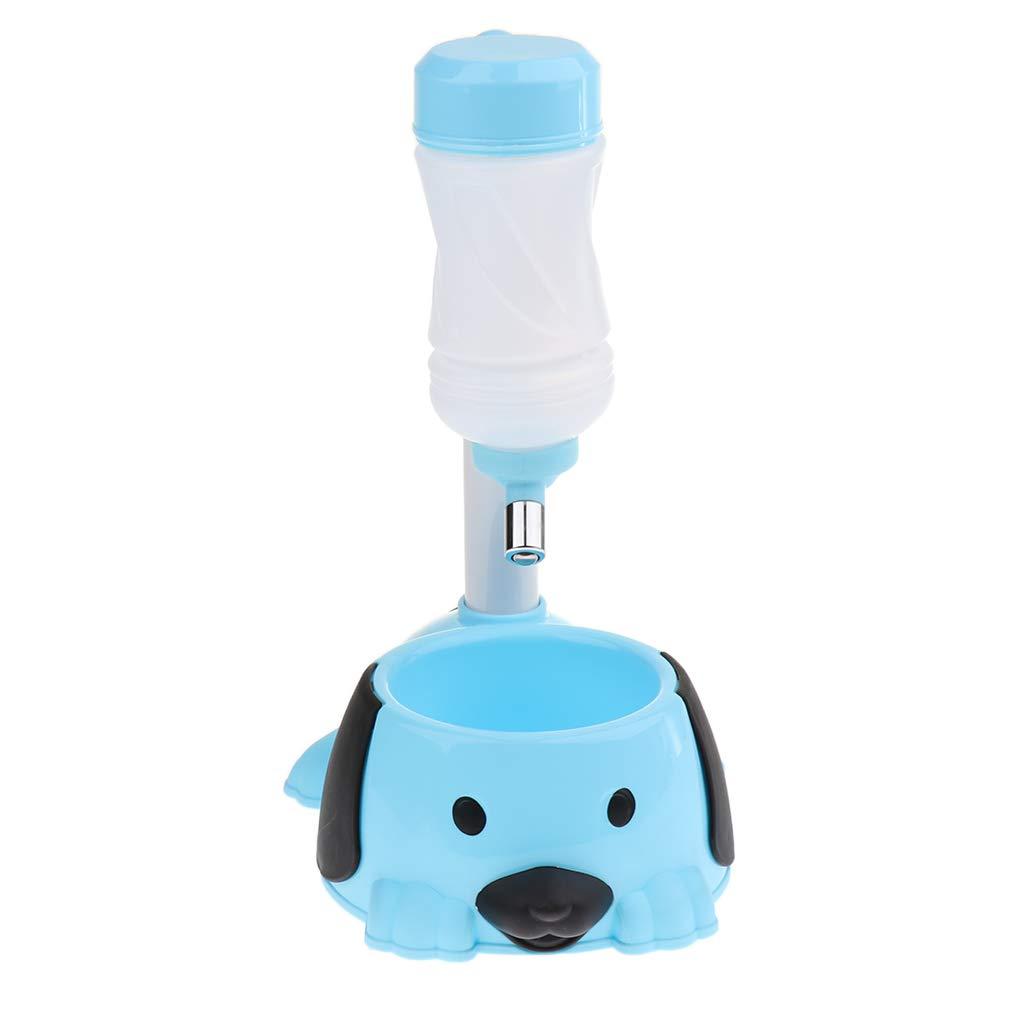 perfk Bouteille pour Chien Portable en Plastique Pot Voyage de Chien et Chat Pet Water BottleTravel - Bleu