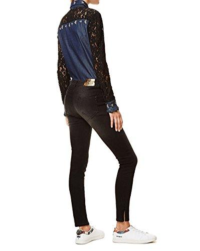 Para black Denim Vaqueros Delgados Azul Gold Skin Denim Mujer Pantalones Desigual second 5009 AxwHP0vwnq