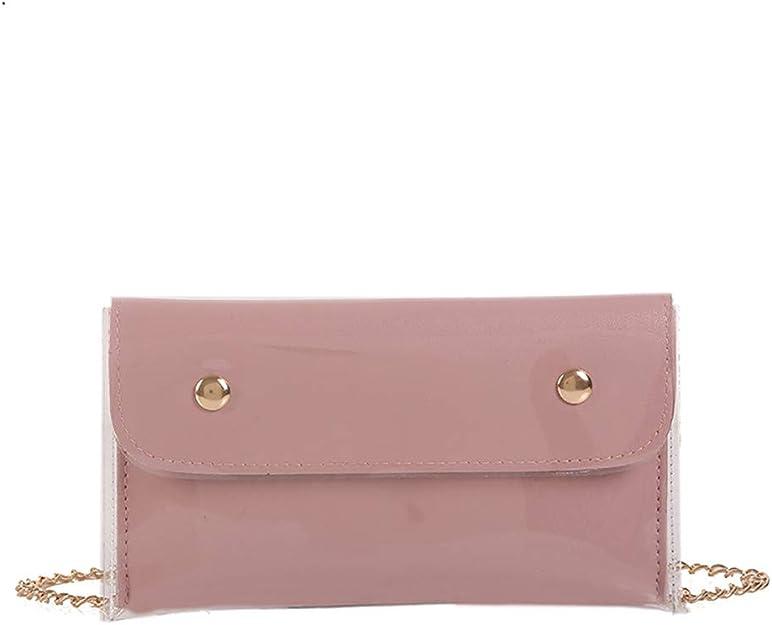 KESEELY Transparent Color Shoulder Bag Waterproof PVC Material Square Messenger Bag With Zipper