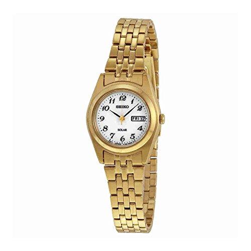 Seiko Gold Tone Wrist Watch - Seiko Women's SUT118 Gold-Tone Stainless Steel Watch