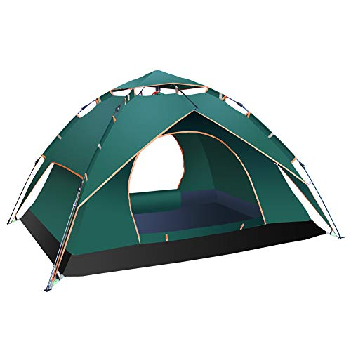 2-Layered Camping Tent and Canopy for 3-4 People Pop-up Rainproof Windproof Sunproof Four Seasons by Mary