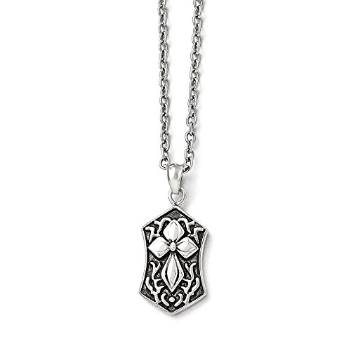 ICE CARATS Stainless Steel Cross Religious Chain Necklace Pendant Charm Crucifix Fashion Jewelry Gifts for Women for Her -