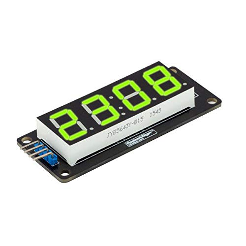 Digital Tube Display - Led Display Panel Module - RobotDyn LED Display Tube 4-Digit 7-segments Module For - Green (5 Digit 7 Segment Module)