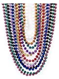 Metallic Beaded Necklaces (48 pc)