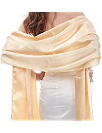 Women's Satin Wrap Wedding Shawl for Evening Party Bridal Wraps and Shawls