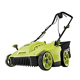 Sun Joe MJ506E 16 in 6.5 Amp Quad Wheel 24 Blade Electric Reel Lawn Mower w/ Grass Catcher 4 ✅ ELECTRIC REEL MOWER: Power 6.5-amp motor cuts a crisp 16 in. wide path ✅ ADJUSTABLE: 5-position manual adjustment allows for cutting heights: 1 in. - 2.6 in. (25 mm - 65 mm) ✅ STEEL RAZORS: Each of the 24 steel razors are designed to lift trim your grass to ensure the perfect, precise cut every time