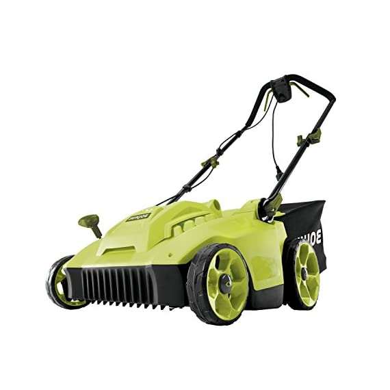Sun Joe MJ506E 16 in 6.5 Amp Quad Wheel 24 Blade Electric Reel Lawn Mower w/ Grass Catcher 1 ✅ ELECTRIC REEL MOWER: Power 6.5-amp motor cuts a crisp 16 in. wide path ✅ ADJUSTABLE: 5-position manual adjustment allows for cutting heights: 1 in. - 2.6 in. (25 mm - 65 mm) ✅ STEEL RAZORS: Each of the 24 steel razors are designed to lift trim your grass to ensure the perfect, precise cut every time