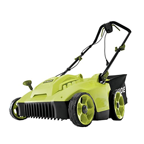 Electric Reel Mower - Sun Joe MJ506E 16 in 6.5 Amp Quad Wheel 24 Blade Electric Reel Lawn Mower w/Grass Catcher