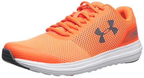 Shoes White Sneakers Orange - Under Armour Boys' Grade School Surge RN Sneaker, Orange Glitch (601)/White, 6.5 M US Big Kid