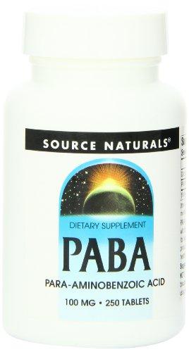 Source Naturals PABA 100mg Tablets
