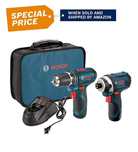 Bosch Power Tools Combo Kit CLPK22-120 12-Volt 2-Tool Cordless Combo Kit (Drill/Driver and Impact Driver) with 2 Batteries, Charger and - Power Bosch Tool Charger