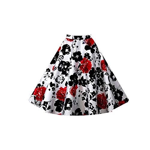 vase mode taille haute Red les Black vtements plisse Pour femme Jupe pour FlowerKui de E5qwPP