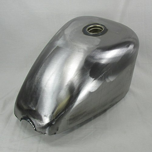 King Sporty Gas Tank Oversized for 1982-2003 (Rubber Mount Style) Harley Davidson Sportster LEFT SIDE PETCOCK - 3.1 Gallon Capacity - Steel - Chopper Bobber Motorcycle Cafe Racer Fuel Cell (Harley Gas Tank)