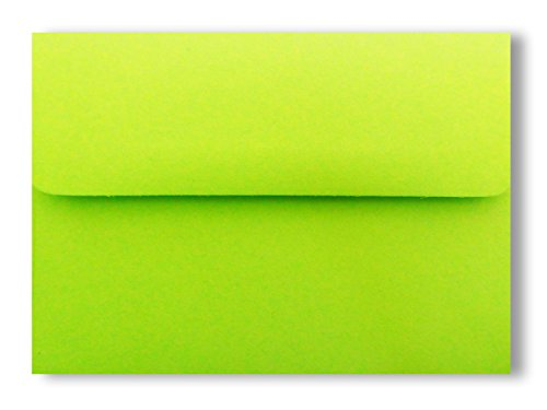 Lime Green Envelopes (Bright Lime Green 25 Pack A6 Envelopes for 4 X 6 Photos Invitations Announcements Showers from The Envelope Gallery)