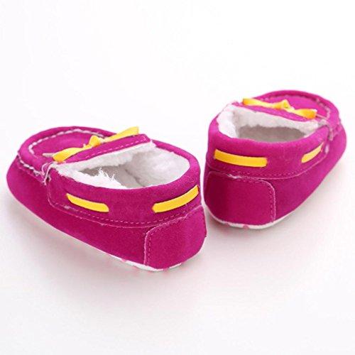 Schuhe für 0-18 Monate Baby Clode® Weiche Weiche Sohle Krippe Warm-Knopf Wohnungen Cotton Boot Schuhe Hot Pink
