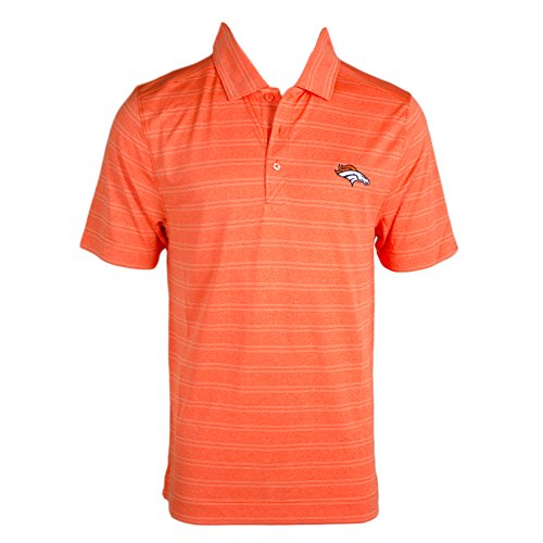 Cutter & Buck Denver Broncos Melnge Polo Orange Heather XXL Mens (Denver Broncos Cutter)