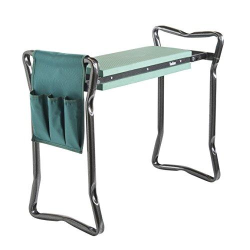 Buy cheap vonhaus portable folding garden kneeler bench and seat stool with tool bag accessory eva foam
