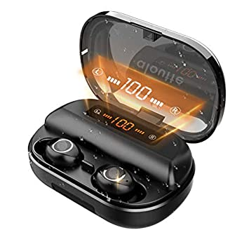 aloutte Bluetooth 5.0 TWS Wireless Earbuds,True Wireless in-Ear Headphone,Wireless Sport Earbud Bluetooth Headset, Ipx5 Waterproof Bluetooth Earphone,Build-in Mic with 2600mah Charging Case 4000mAh