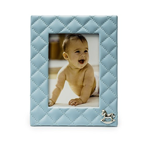 Modali Baby Fine & Elegant Faux Blue Leather Photo Frame 5x7