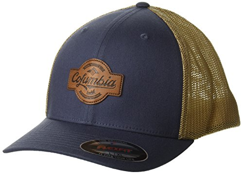 Trucker Rugged Cap - Columbia Men's Rugged Outdoor Mesh Hat, Dark Mountain, Patch S/M