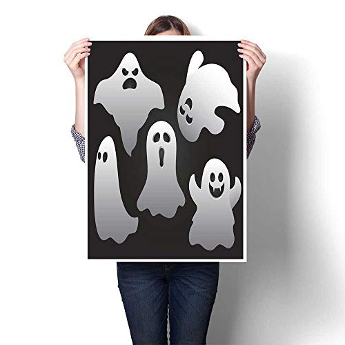 homehot Canvas Print Wall Art Halloween Ghosts Decorative Fine Art Canvas Print Poster K 20
